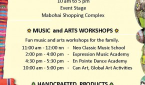 Music and Arts Weekend Poster