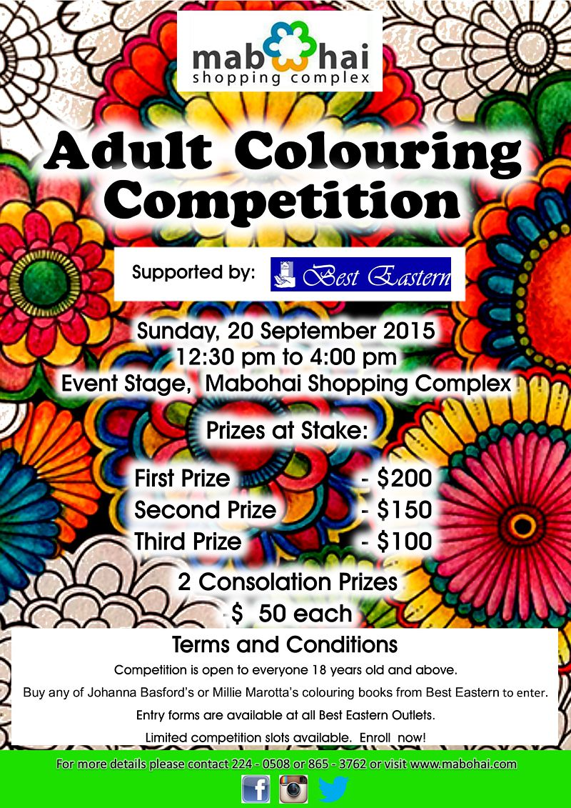 Adult Colouring Competition | Mabohai Shopping Complex