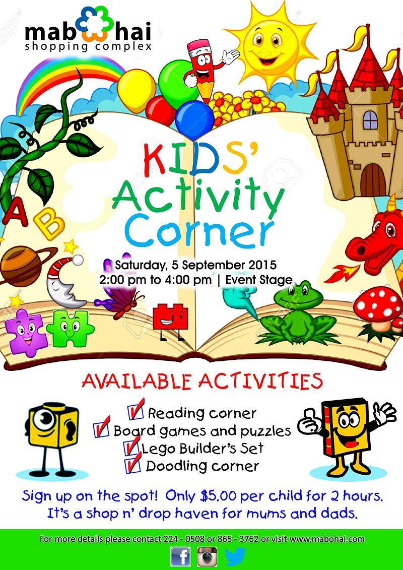 Kid S Activity Corner Mabohai Shopping Complex