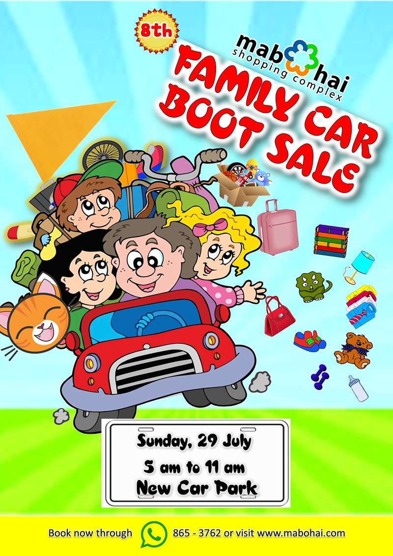 Seventh And Eighth Family Car Boot Sale For July 2018 Mabohai